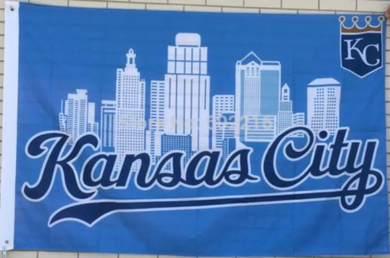 Kansas City Royals USA City Banner flags 3ftx5ft