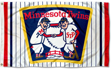 Minnesota Twins Retro Vintage Logo Banner flag 3ftx5ft
