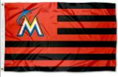 Miami Marlins Americana Nation Banner flag 3ftx5ft