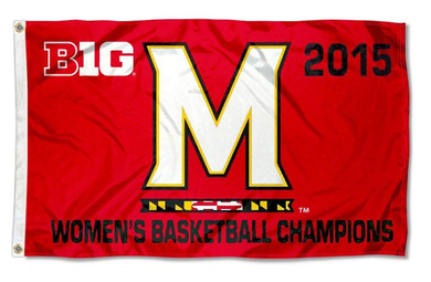 Maryland Terrapins Nation Big 10 Women's 2015 Champions Sports Flag 3*5ft