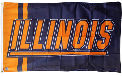 Illinois Fighting Illini Polyester Flags Banners 3*5ft