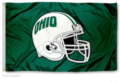 Ohio Bobcats Banner Football Helmet 3x5FT