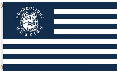 Connecticut Huskies Stripes Banner Flag 3*5ft