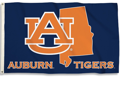 Auburn Tigers State outline Banner Flag 3*5ft