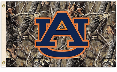 Auburn Tigers Realtree Camo Banner Flag 3*5ft