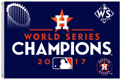 Houston Astros 2017 World Series Champions Banner flags 3ftx5ft