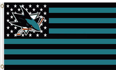 San jose sharks logo star and stripes Flag 3ft x 5ft