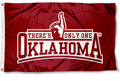 Oklahoma Sooners There's Only One Red Banner Flags 3*5ft