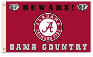 Alabama Crimson Bama Country Flag 3x5ft