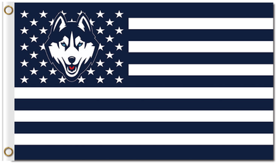 University of Connecticut Huskies Star and Stripes Banner Flag 3*5ft
