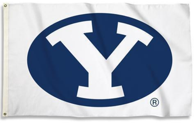 Brigham Young Cougars White Banner Flag 3*5ft