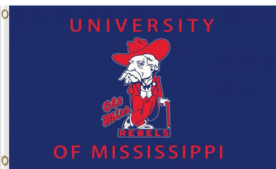 Mississippi Rebels Logo Hand Flag 90*150 CM