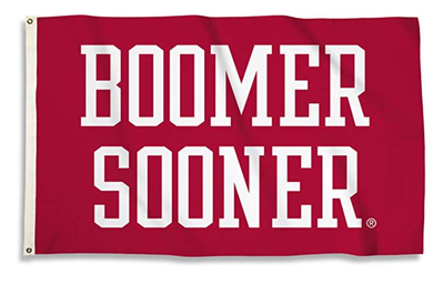 Oklahoma Sooners Boomer Sooner Red Sports Flags 3*5ft