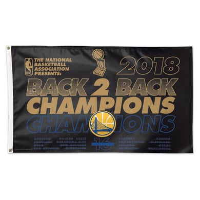 Golden State Warriors Basketball 2018 Champions Flag