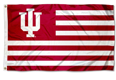 Indiana Hoosiers Alumni Nation Stripes Flags Banners 3*5ft