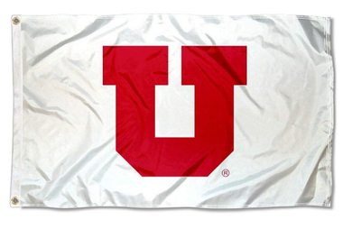 Utah Utes  Whiteout College Logo Banner flag 3x5ft