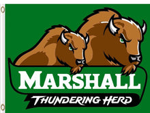 Load image into Gallery viewer, Marshall Thundering Herd Hand Flag 3*5ft