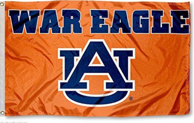 Auburn Tigers War Eagle Hand Flag 3*5ft