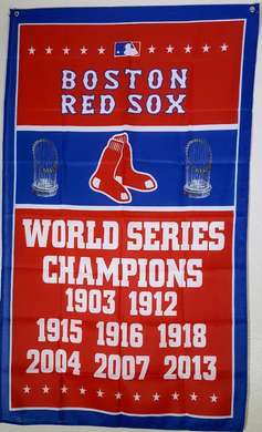Boston Red Sox World Series Champions Banner flags 3x5ft