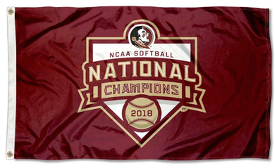 Florida State Seminoles 2018 Softball National Champions Banner Flag 3ft*5ft