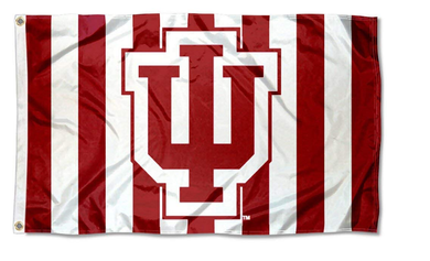 Indiana Hoosiers Candy Stripe Flags Banners 3*5ft