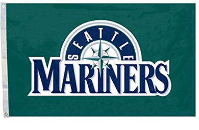 Seattle Mariners Polyester Green Banner flag 3ftx5ft