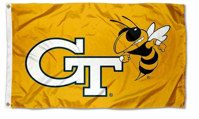 Georgia Tech Yellow Jackets Gold College Flags 3*5ft