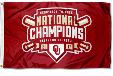 Oklahoma Sooners Softball Back to Back Champions Banner Flags 3*5ft
