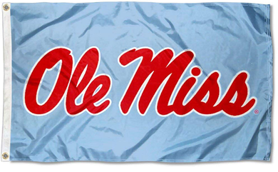 Mississippi Rebels Powder Blue Flag 90*150 CM