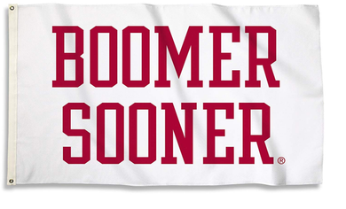Oklahoma Sooners Boomer Sooner White Sports Flags 3*5ft