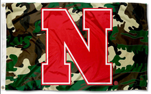 Load image into Gallery viewer, Nebraska Cornhuskers Camo Banner Flag 90*150 CM