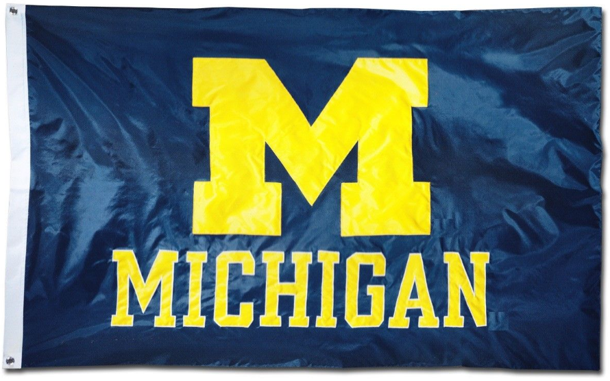 University of Michigan Wolverines Flag 3x5ft