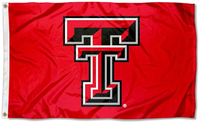 Texas Tech Red Raiders Sports Red Banner Flag 3ft*5ft