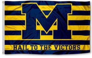 Michigan Wolverines Hall To The Victory Banner Flag 90*150 CM