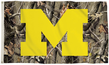 Load image into Gallery viewer, Michigan Wolverines Camo Realtree Flag 90*150 CM