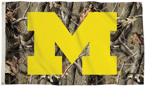 Michigan Wolverines Camo Realtree Flag 90*150 CM