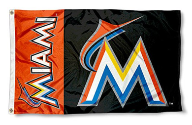 Miami Marlins Sport Banner flag 3ftx5ft