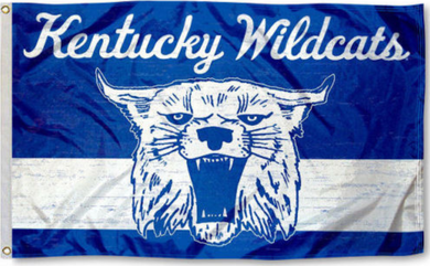 Kentucky Wildcats Throwback Vintage Banner Flag 3*5ft