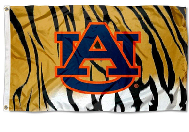 Auburn Tigers College Tiger Stripe Banner Flag 3*5ft