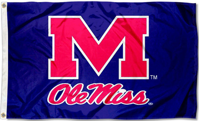 Mississippi Rebels Ole Miss Blue Flag 3x5ft