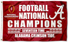 Load image into Gallery viewer, Alabama Crimson Tide 2015 Champions Flag 3x5ft