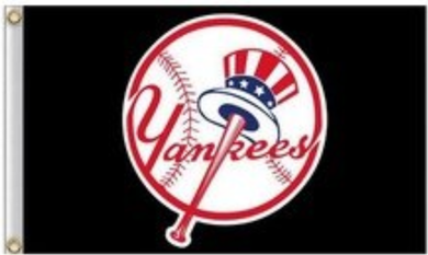 New York Yankees Black Banner Flag 3ft x 5ft