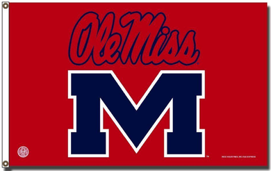 Mississippi Rebels Ole Miss Rico Flag 3x5ft