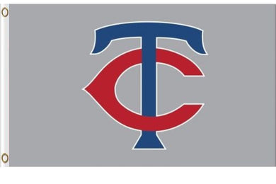 Minnesota Twins Gray Banner flag 3ftx5ft