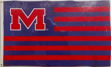 Mississippi Rebels Ole Miss Stripes Nation Flag 90*150 CM