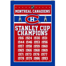 Load image into Gallery viewer, Montreal Canadiens Champions flags 3x5ft
