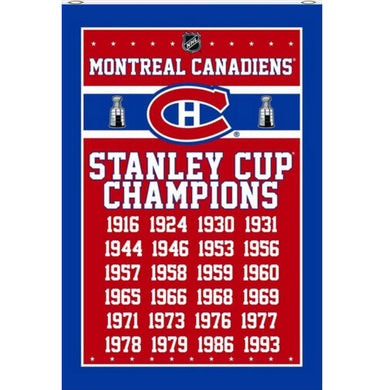 Montreal Canadiens Champions flags 3x5ft