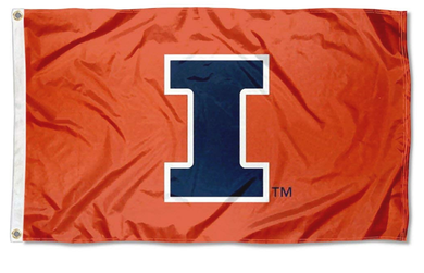 Illinois Fighting Illini New Logo Flags Banners 3*5ft
