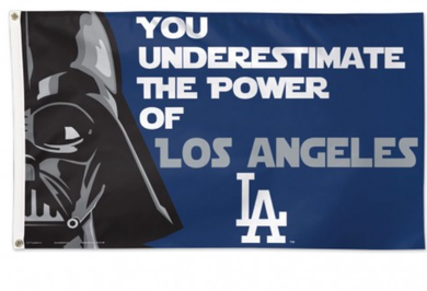 Los Angeles Dodgers Star Wars Banner flag 3ftx5ft