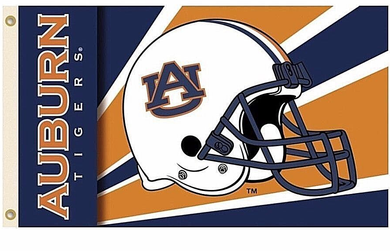 Auburn Tigers Helmet Banner Flag 3*5ft